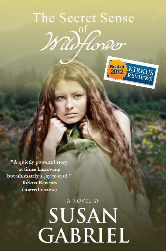 The Secret Sense of Wildflower - paperback, autographed by author