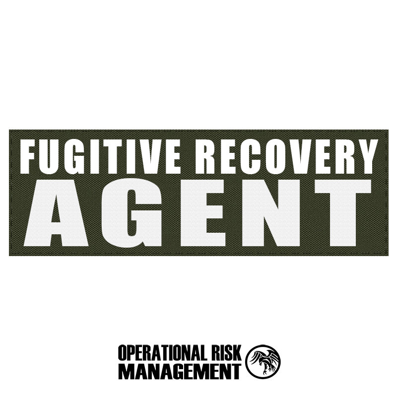 """3"""" X 9"""" FUGITIVE RECOVERY AGENT ID PANEL"""