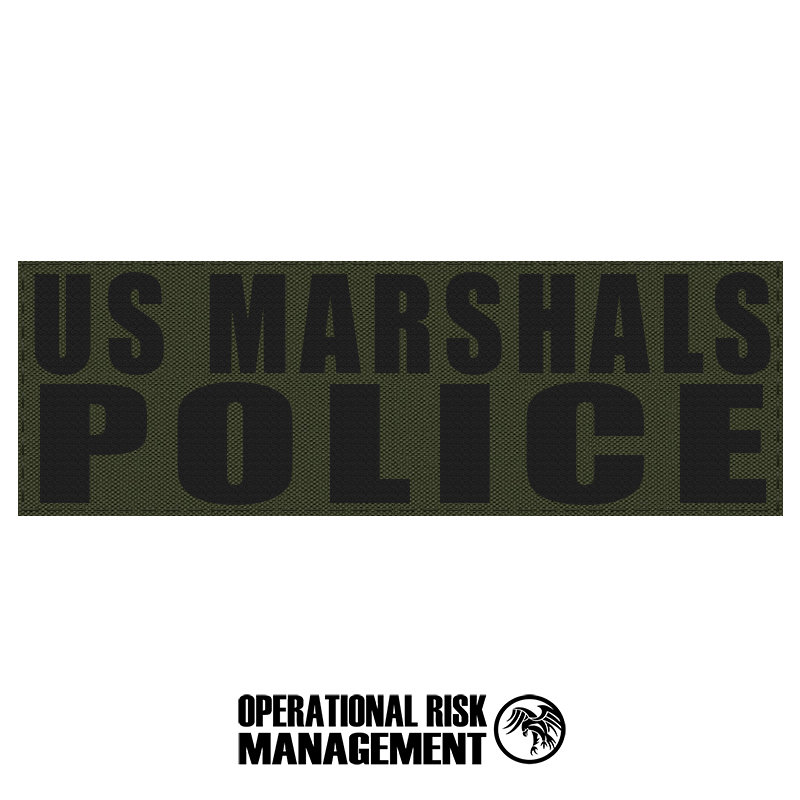"3"" X 9"" US MARSHALS POLICE ID PANEL"