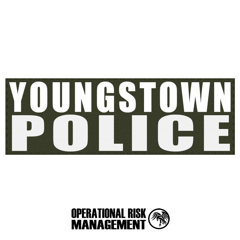 """3"""" X 9"""" YOUNGSTOWN POLICE ID PANEL"""
