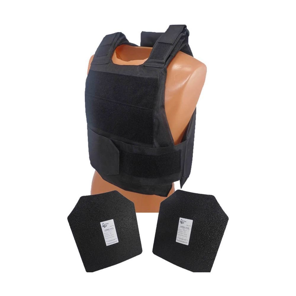 """Armor type: Complete with 2 10"""" x 12"""" AR500 steel Level III plates  Size: Fully adjustable shoulder straps and girth - Small to XXLarge"""