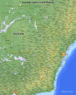 Australia Sydney South Mission LARGE (8X10) Effective July 1 2013 - Digital Download Only