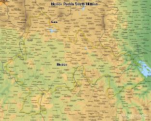 Mexico Puebla South Medium (8X10) Digital Download Only
