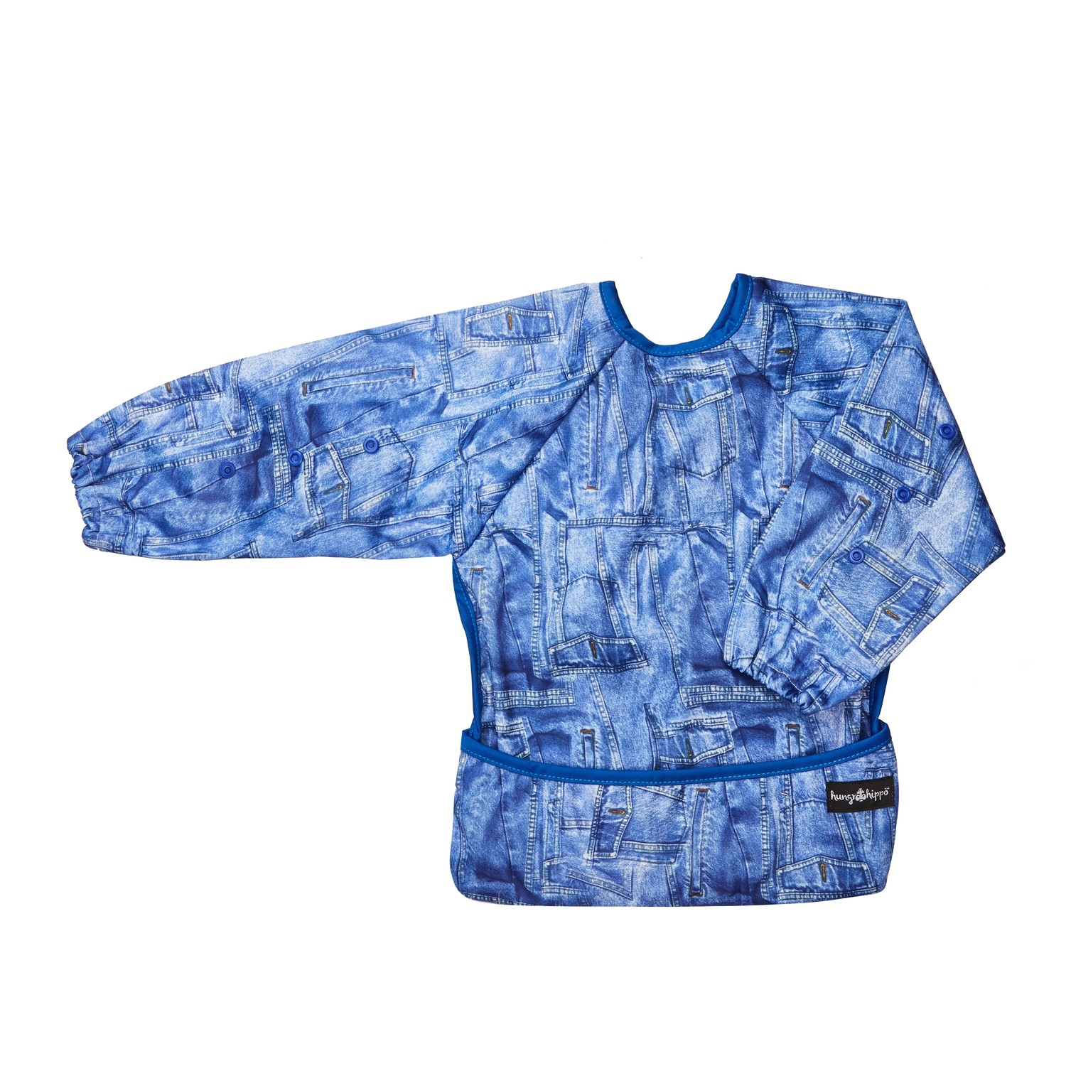 HungrHippo 2-in-1 Bib and Apron in Blue