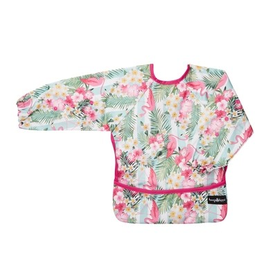 HungrHippo 2-in-1 Bib and Apron in Pink