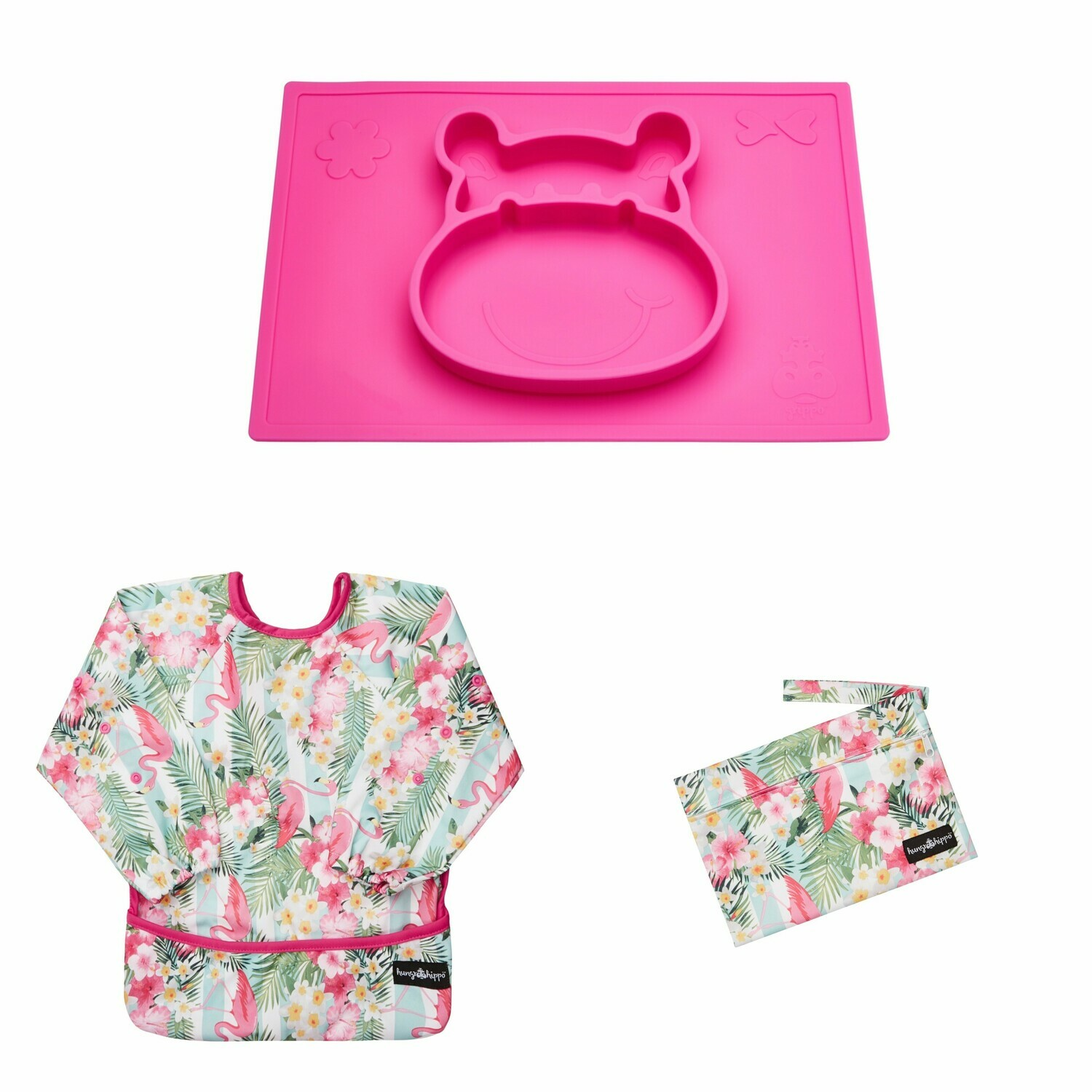 Weaning and Messy Play Bundle in Pink