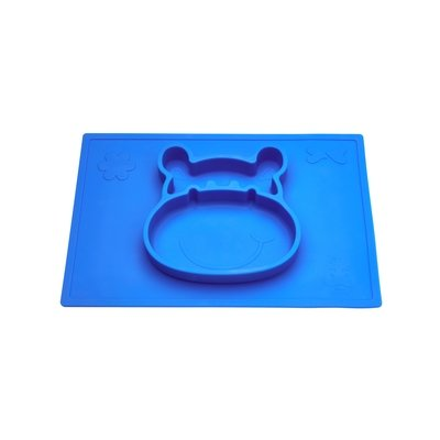 Grippo 2-in-1 Silicone Placemat and Plate in Blue