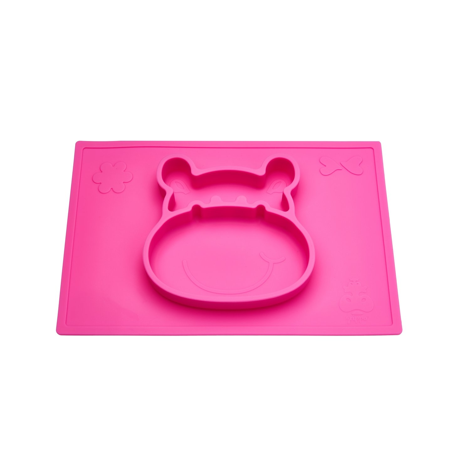 Grippo 2-in-1 Silicone Placemat and Plate in Pink