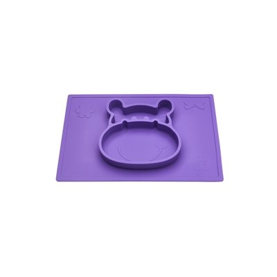 Grippo 2-in-1 Silicone Placemat and Plate in Plum