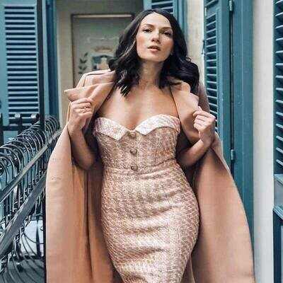 Tweed Fashion Dress