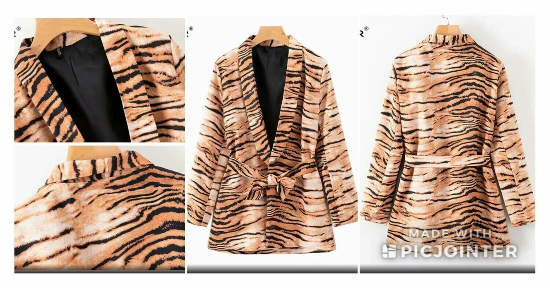 Tiger Print Blazer