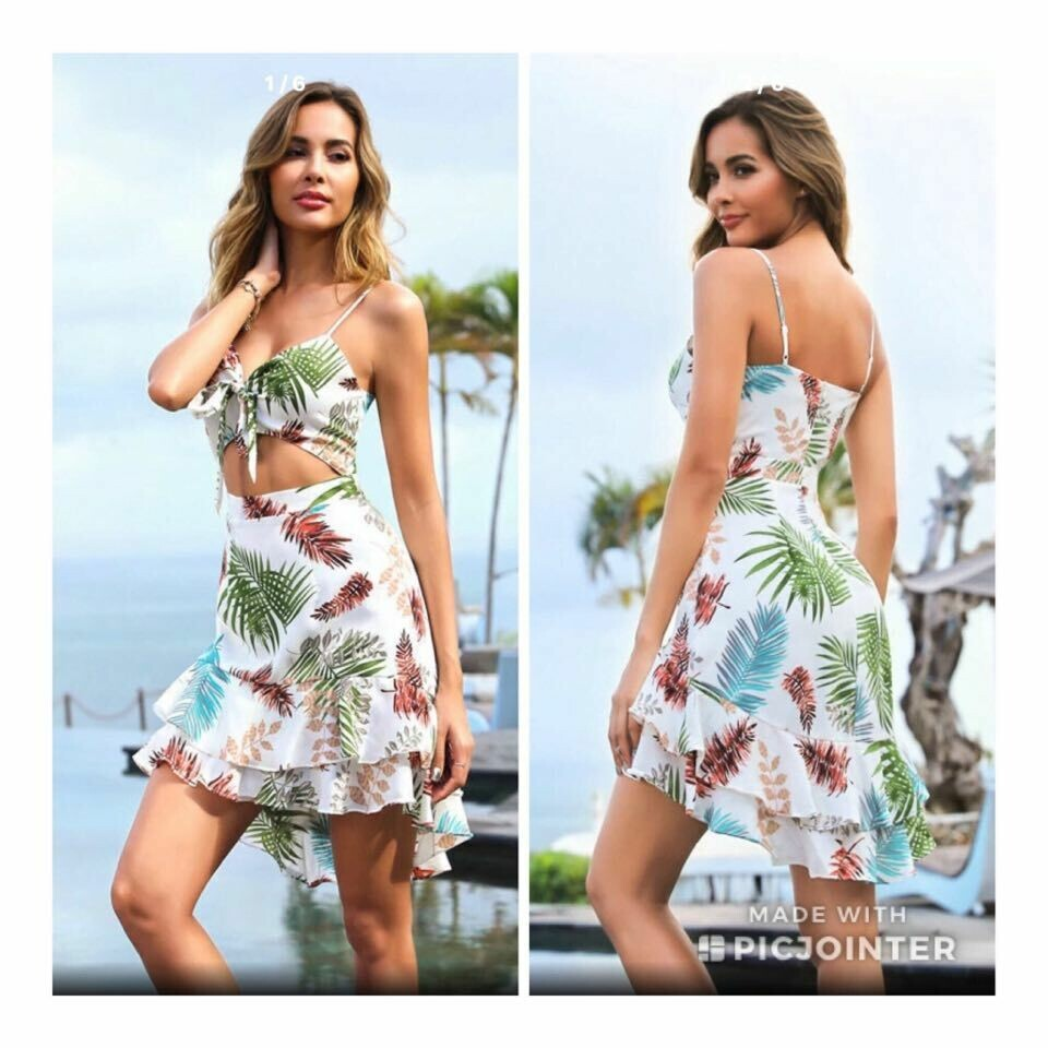 Printed Cut Out Dress