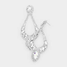 Silver pageant earrings