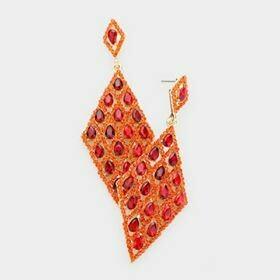 Red/orange diamond dangle