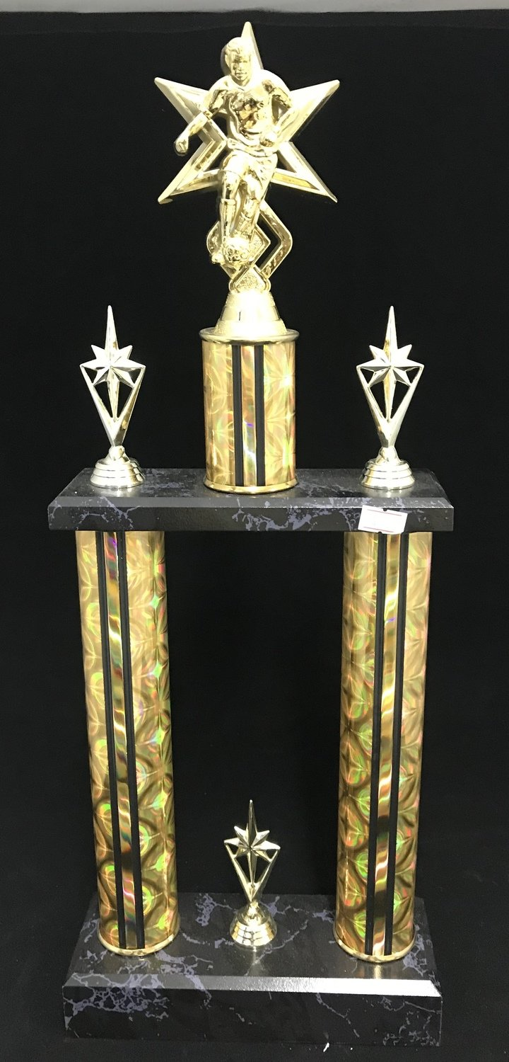 """2 Post Trophy, 24"""" FREE SHIPPING"""