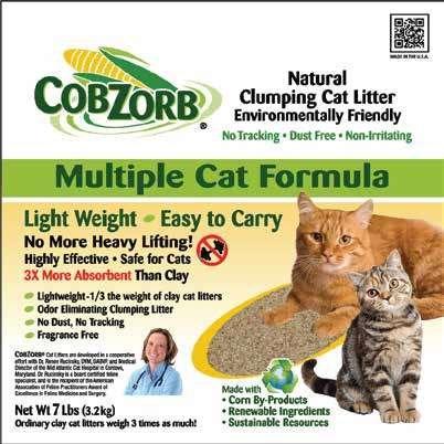 CobZorb® 100% Natural Clumping Cat Litter