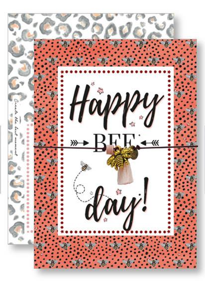Lucky Armband Kaartjes - Happy Bee Day