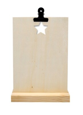 Kaartenstandaard - Ster - hout A5