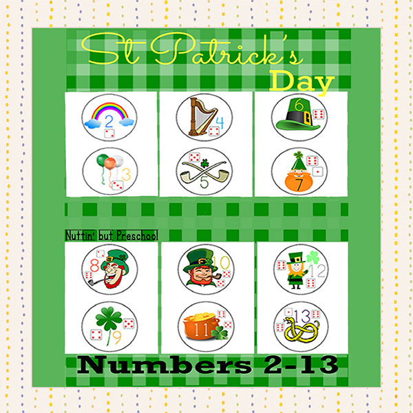 ​St Patricks Day Numbers 2-13