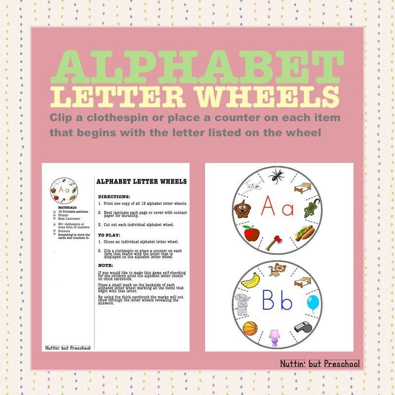 Alphabet Letter Wheels
