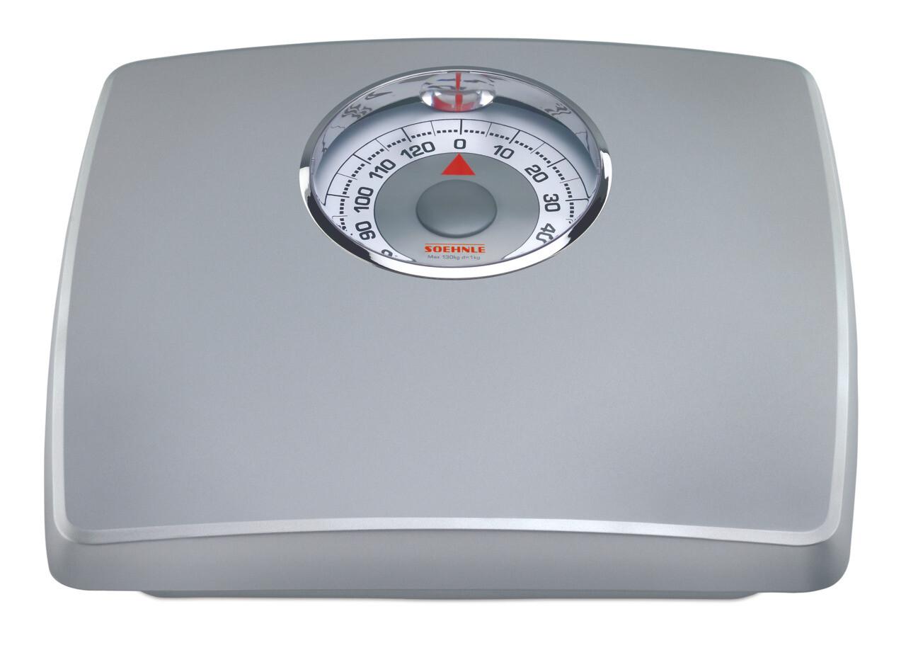 Soehnle Loupe Silver Analog Bathroom Personal Scale 61351