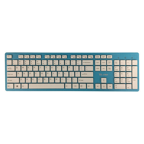 TCSTAR Wired USB Chocolate Keyboard K518