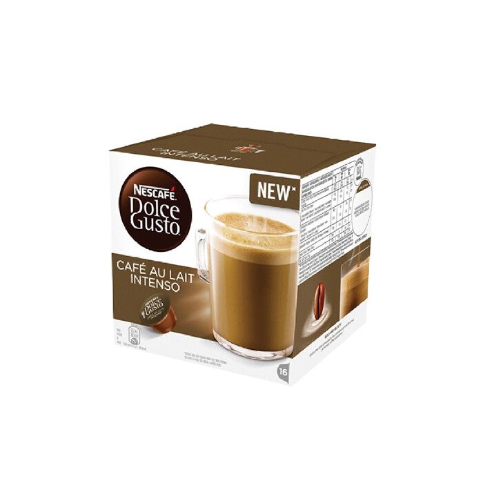 Nescafe Dolce Gusto Cafe Au Lait Intenso Coffee 16 Capsules Per Box