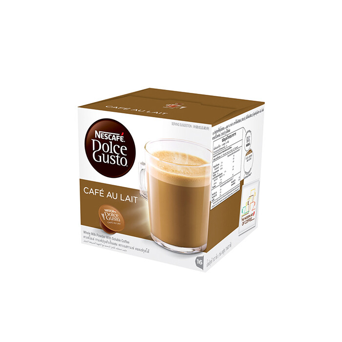 Nescafe Dolce Gusto Cafe Au Lait Coffee 16 Capsules Per Box