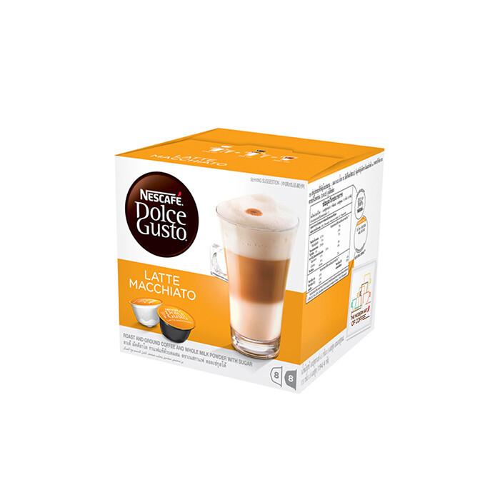 Nescafe Dolce Gusto Latte Macchiato Coffee 16 Capsules Per Box