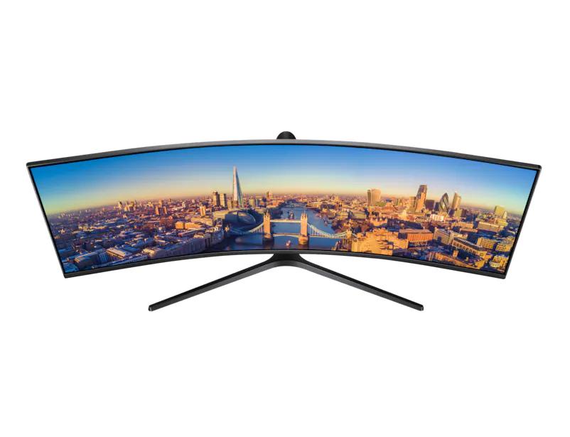 "Samsung 49"" Super Ultra-Wide Curved Screen with 1800R Curvature LC49J890DKEXXM"
