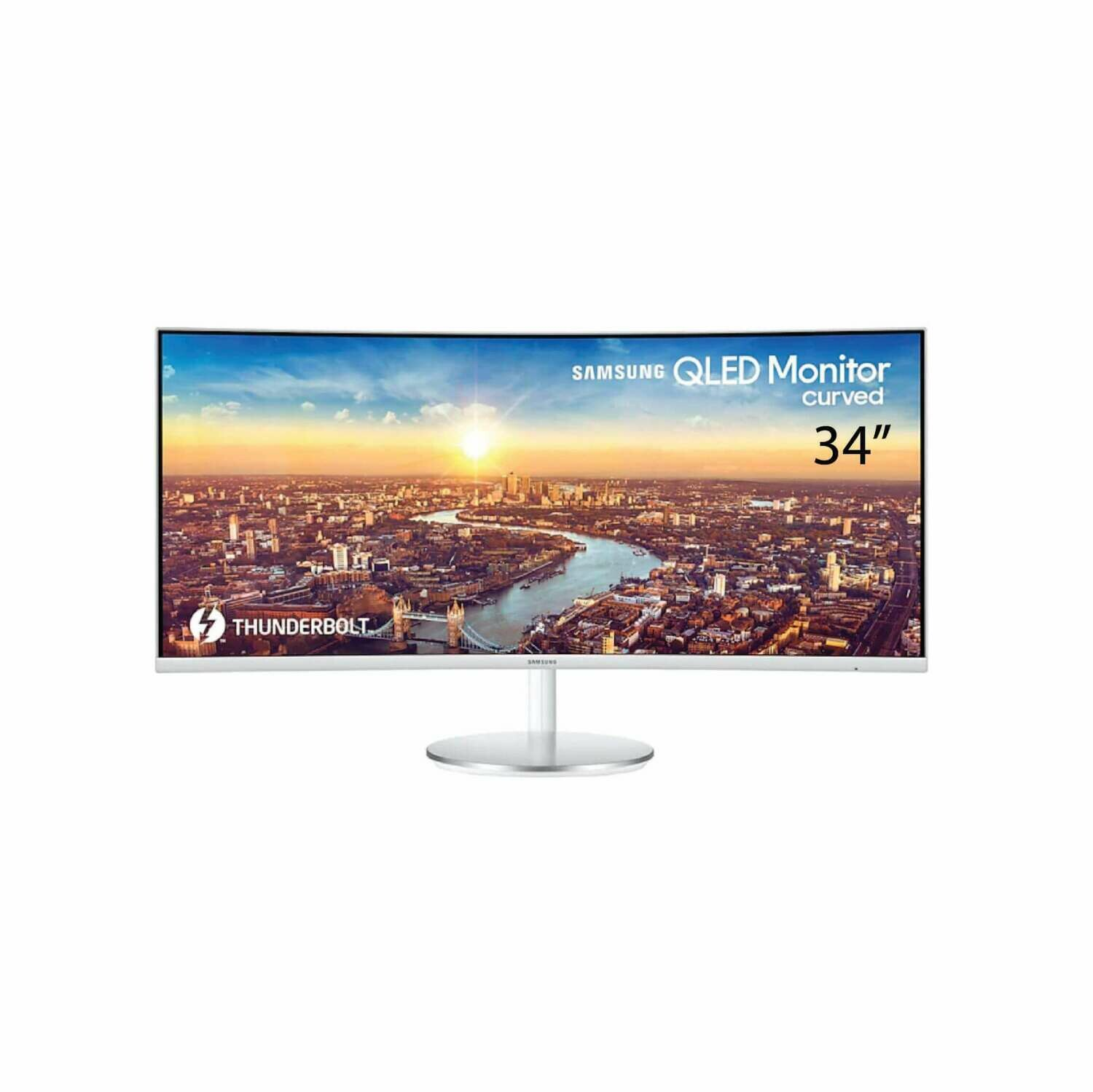 "Samsung 34"" Thunderbolt™ 3 Curved Monitor CJ791 with 21:9 Wide Screen LC34J791WTEXXM"