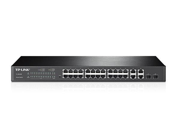 TP-Link 24-Port 10/100Mbps + 4-Port Gigabit Smart Switch TL-SL2428