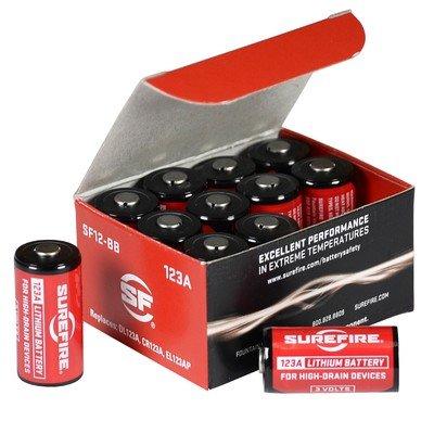 Surefire SF123A Lithium Batteries (12 pcs per box)