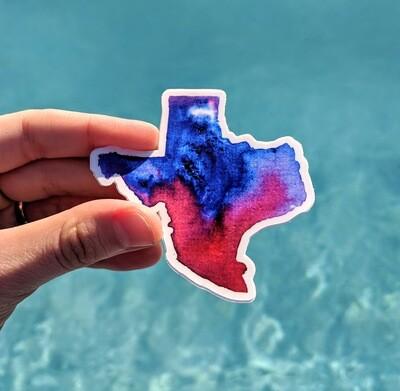 Watercolor Texas - Durable Vinyl Sticker