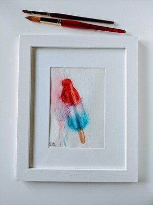 Watercolor Popsicle Bomb Pop