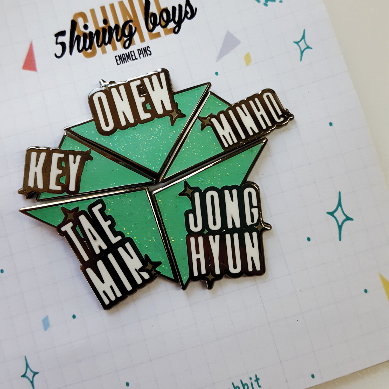[PRE-ORDER] Enamel Pin: 5hining Boys