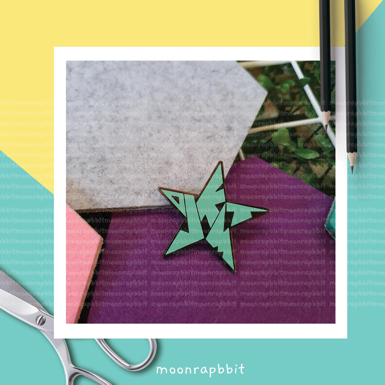 Enamel Pin: OJKMT STAR