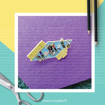 Enamel Pin: SUPER CLAP