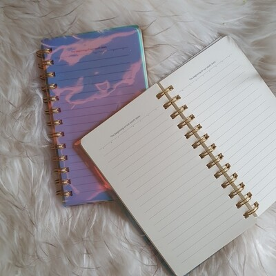 Notebook: Holographic Lined Notebook