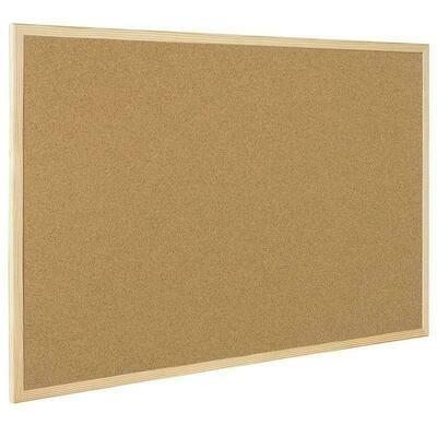 Доска пробковая 60*90 BI-OFFICE деревян.рамка