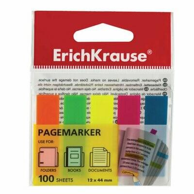 Закладки клейкие пластик 5цв*20л ERICH KRAUSE
