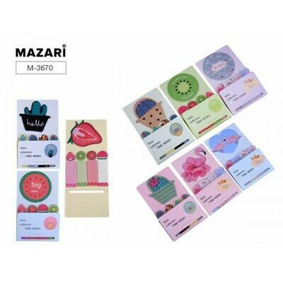 Блок-стикер фигурный 18л*5 MAZARI