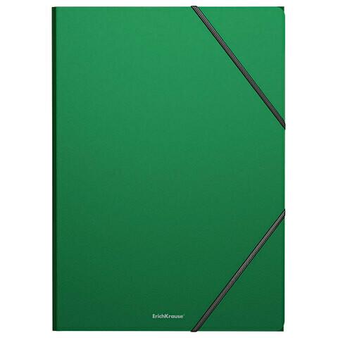 """Папка на резинках А4 ERICH KRAUSE """"Classic"""" 400мкм пластик EK43094 зеленая"""