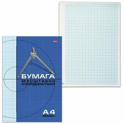 Бумага миллиметровая А4 16л HATBER 02284