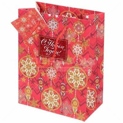 Пакет подарочный 17.8*22.9*9.8см