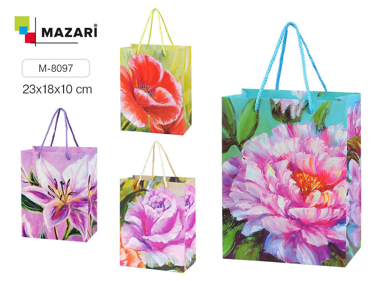 """Пакет подарочный 18*23*10 MAZARI """"Цветочная Симфония"""" M-8097"""