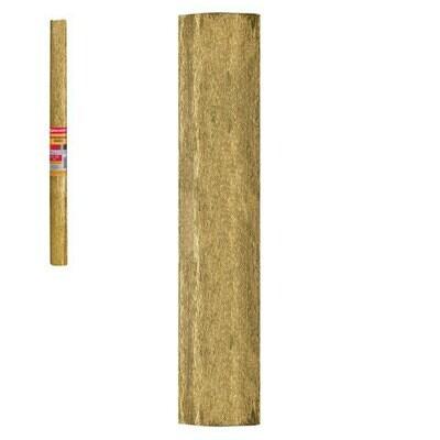 Бумага цветная крепированная BRAUBERG 50м*200см 127935 золото