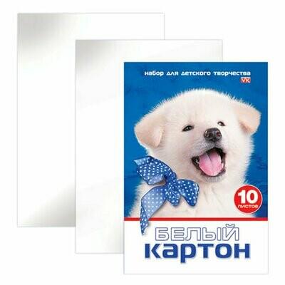 Набор белого картона А4 10л HATBER