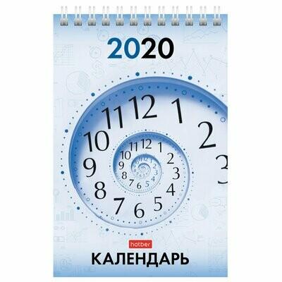 Календарь-домик на гребне 160*105  HATBER вертикаль
