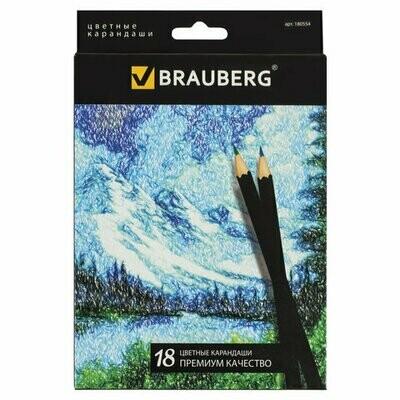 Карандаши 18 цветов BRAUBERG